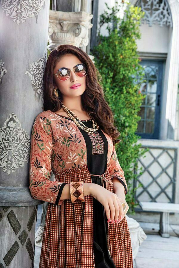 brown kurti set