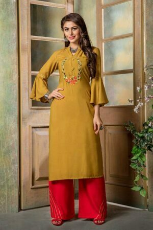 Amber Embroidered Kurti with Palazzo