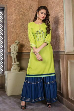 Light Green Rayon sharara with kurti