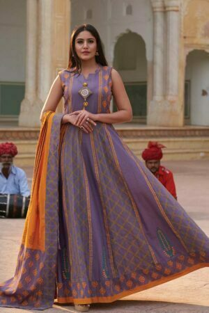 Purple Long Kurti dress