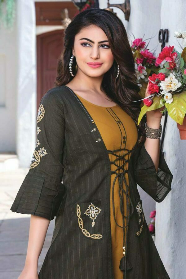 Gowns for women with embroidered jacket
